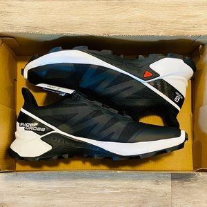 Salomon Supercross Black White Trail Running Shoes